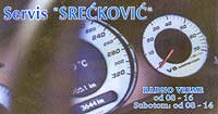 REPAIR SHOP SRECKOVIC Speed counter and taximeter services Belgrade