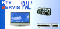 RTV SERVICE PAL TV, video and audio supporters Belgrade