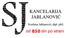 OFFICE JABLANOVIC - COURT INTERPRETER FOR GERMANY Courier services Belgrade