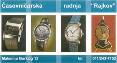 CASOVNICAR RAJKOV  Watchmakers Belgrade