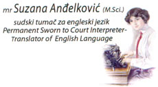 ANĐELKOVIC SUZANA Translators, translation services Belgrade