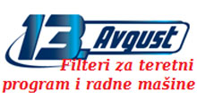 13. AVGUST DOO Oils and filters Belgrade