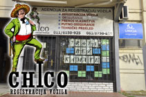 CHICO - REGISTRACIJA VOZILA