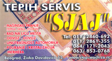 SJAJ CARPET SERVICE Car wash Belgrade