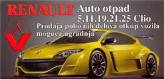 RENAULT CAR WASTE DUJA Car dumps Belgrade