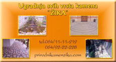 NATURAL STONE ZIKA Warehouses Belgrade
