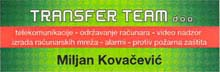 TRANSFER TEAM DOO Security systems and equipment Belgrade