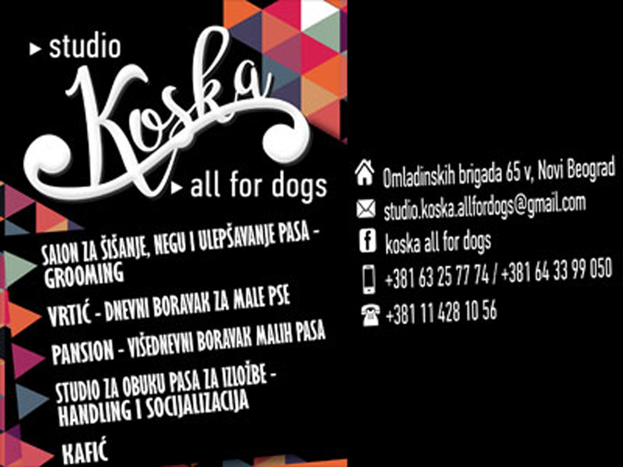 KOSKA ALL FOR DOGS Pet salon, dog grooming Beograd