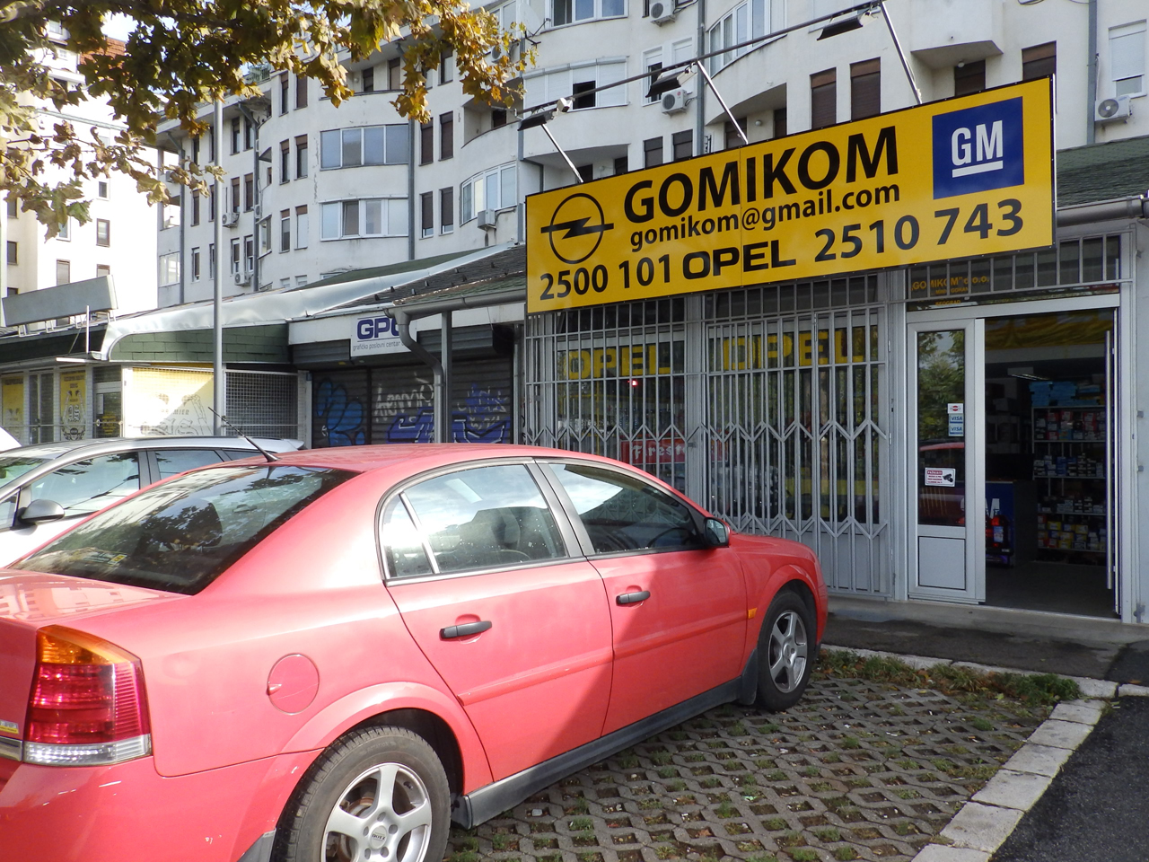 OPEL GOMIKOM Replacement parts Beograd