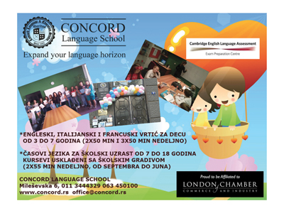 CONCORD LANGUAGE SCHOOL Foreign languages schools Beograd