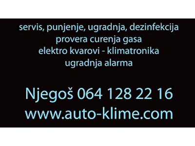 NJEGOS CAR AIR-CONDITIONING SERVICE Car air-conditioning Beograd