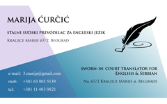 Marija Curcic English Language Court Interpreter Translators