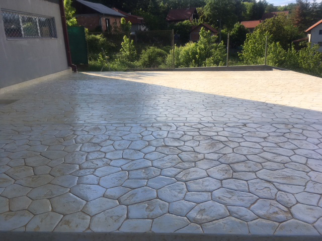 BLUE STONE PRINTED CONCRETE Construction materials Beograd