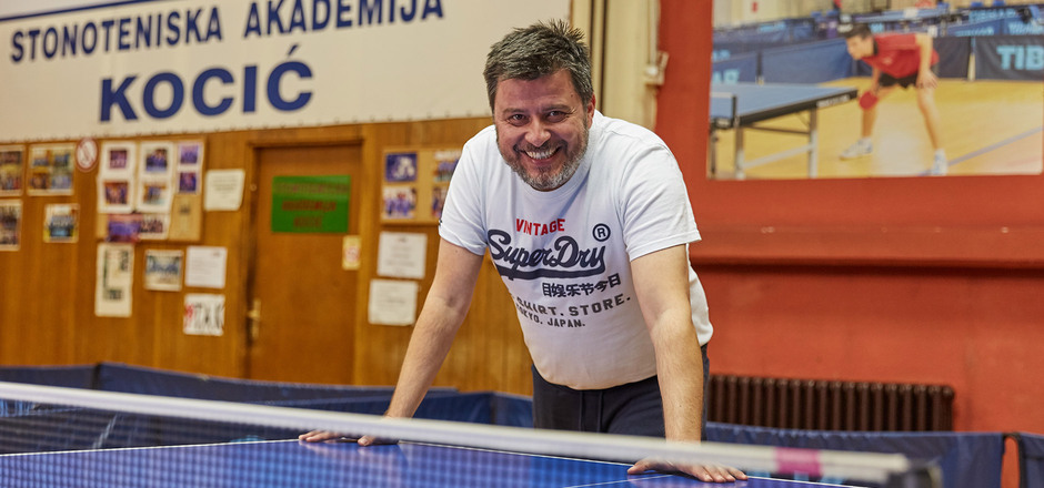 Aleksandar Karakasevic: Zemun-born man with a table tennis paddle