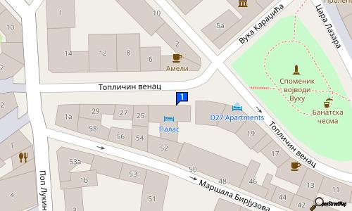 toplicin venac beograd mapa HOTEL PALACE     Hoteli   Topličin venac 23, Stari grad Beograd  toplicin venac beograd mapa